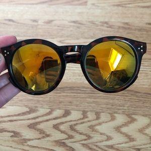 Fun Reflective Round Sunglasses